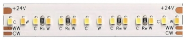 Flex-Streifenmodul, 5m, 24V DC, tuneable white, 19,2W/m, 252 LED/m