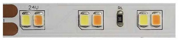 Flex-Streifenmodul, 5m, 24V DC, dim to warm, 14,4W/m, 120 LED/m