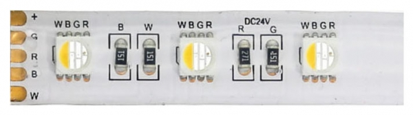RGBW LED Leiterplatte 5m, IP62, 24V, 19,2W/m, 60 LED/m